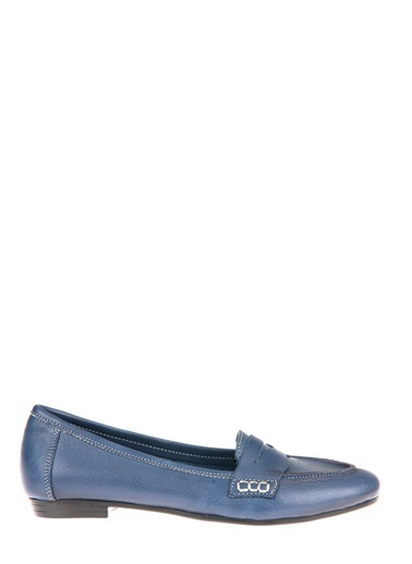 Uniquer Hakiki Deri Günlük Ayakkabı Mavi